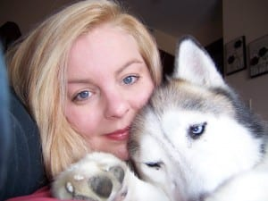 Woman with Siberian Husky - Positive Reinforcement Dog Trainer